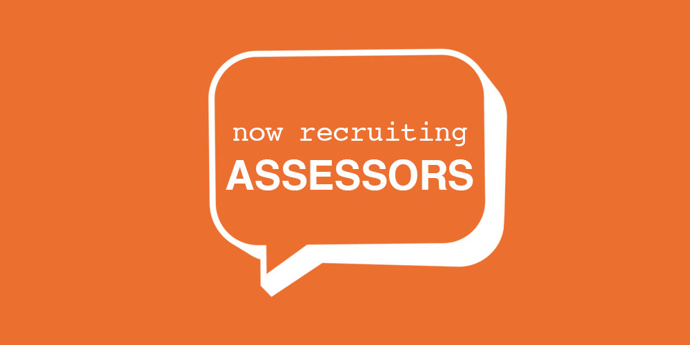 Now Recruiting Assessors – DEADLINE PASSED